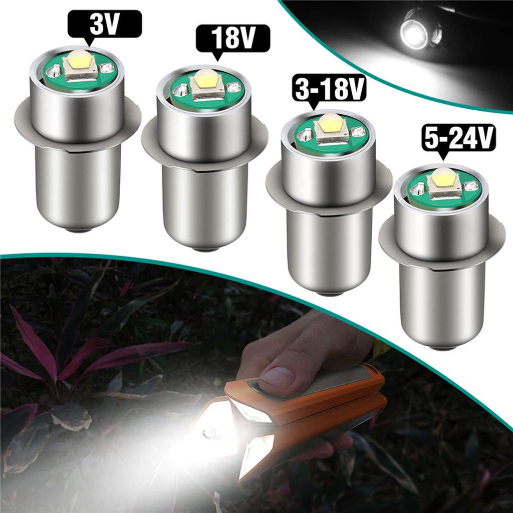 3.0V P13.5S LED Flashlight Replacement Bulb 3W Spot Torch Work Light Lamp DC 3V-24V White COD