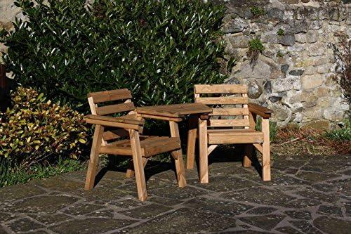 AB Tools Muebles de jardín de Madera Maciza/Patio Amor Asiento/banqueta Mesa: Amazon.es: Jardín