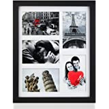 RPJC 11x14 Picture Frames Collage - Display 5 Pcs 4x6 inch Photos with Mat Made of Solid Wood and Glass Cover