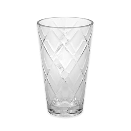 ac31b963425 Image Unavailable. Image not available for. Color  Certified International  Diamond Heavy Weight Clear Acrylic Ice Tea Glass 22 oz.