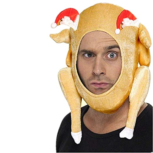 3a3869e8e92 Amazon.com  Funny Thanksgiving Roast Turkey Hats - Plush Toy Christmas  Costume Holiday Accessory Gift