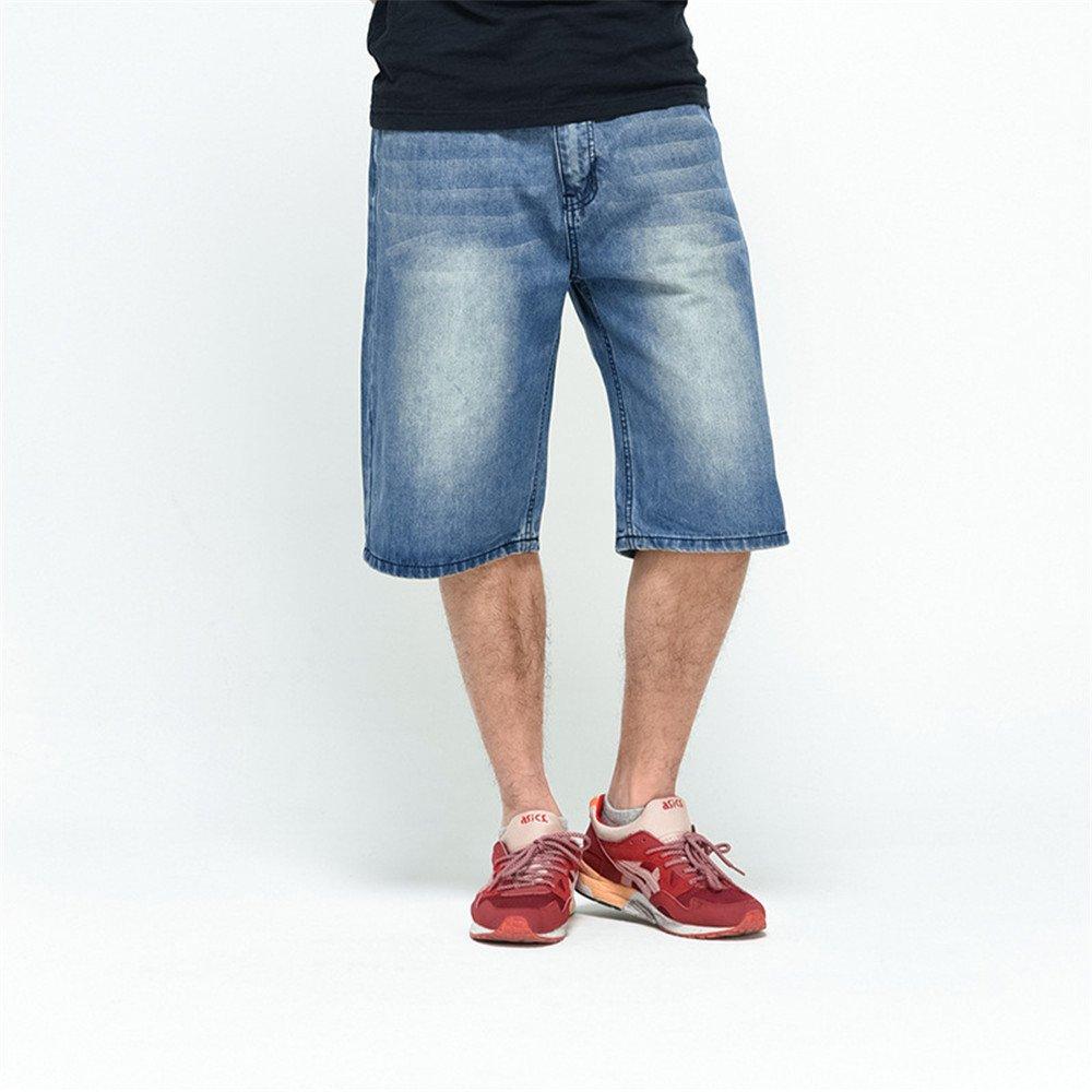 FashionOstyle Mens Light Outdoor Cargo Hip Hop Baggy Vintage Denim Jeans Short