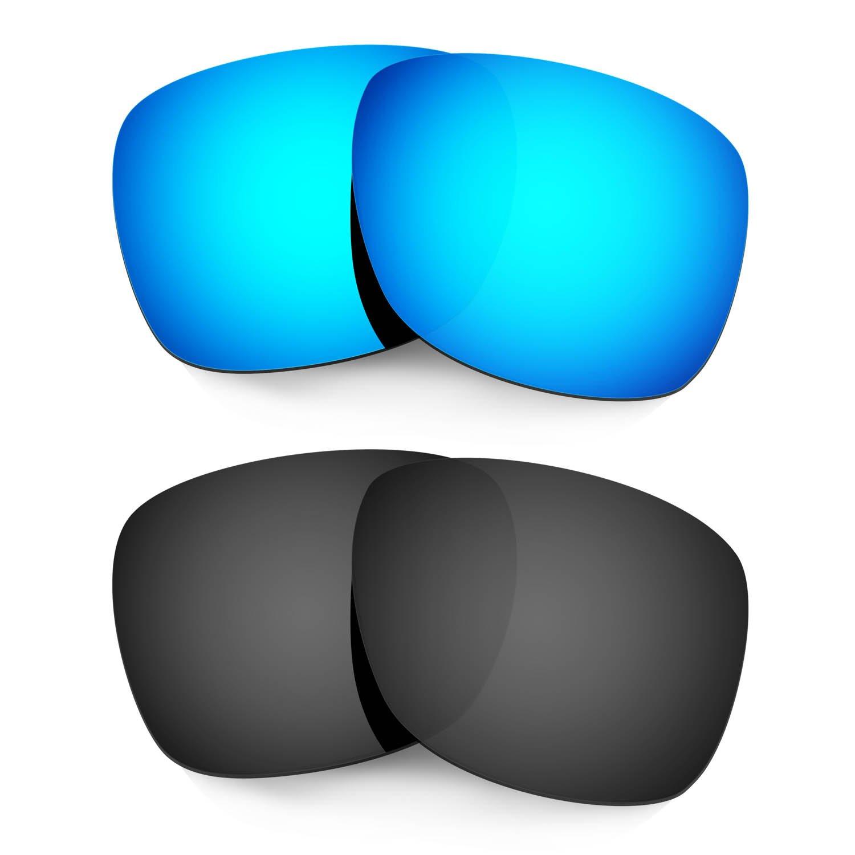 Hkuco Mens Replacement Lenses For Oakley Catalyst Sunglasses Blue/Black Polarized