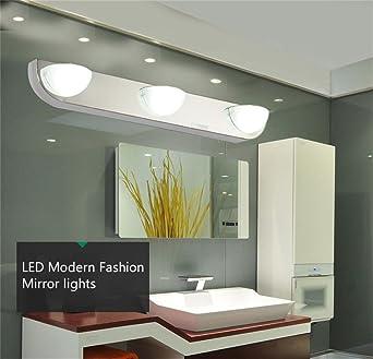 Espejo de cuarto de baño espejo luces LED de luces antiniebla ensayo espejo Lámpara impermeable Lámpara