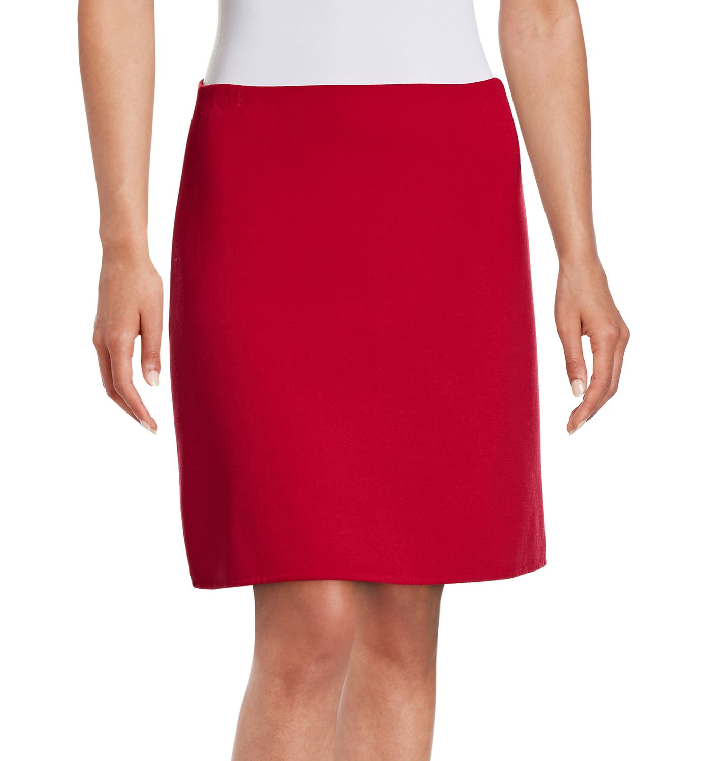 Theory Womens Irenah Saxton Virgin Wool Above Knee A-Line Skirt Red 10