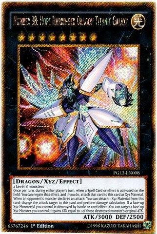 Yu-Gi-Oh! - Number 38: Hope Harbinger Dragon Titanic Galaxy (PGL3-EN008) - Premium Gold: Infinite Gold - 1st Edition - Gold Secret Rare by Konami