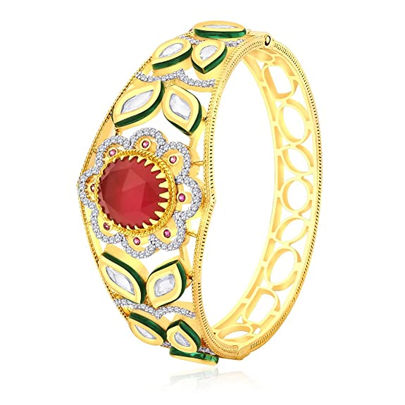 Peora Gold-Plated Bangle For Women Gold-PB133G Bangles & Bracelets at amazon
