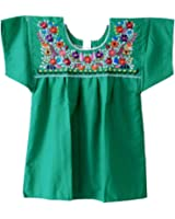 Mexican Peasant Puebla Blouse XXL (Green)