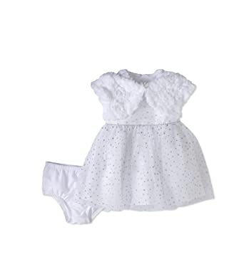 e5e66e1b79f4 Amazon.com  George Baby Girls  Glitter Dress with Jacket