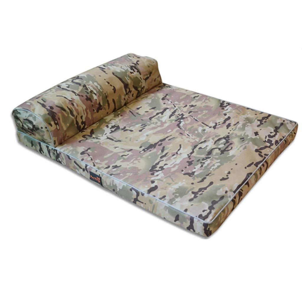 A 100×80cm A 100×80cm JHD Kennels Pet Mat, Large Dog Kennel Cat House Removable And Washable Nest Wear-resistant Bite Pet Bed (color   A, Size   100×80cm)