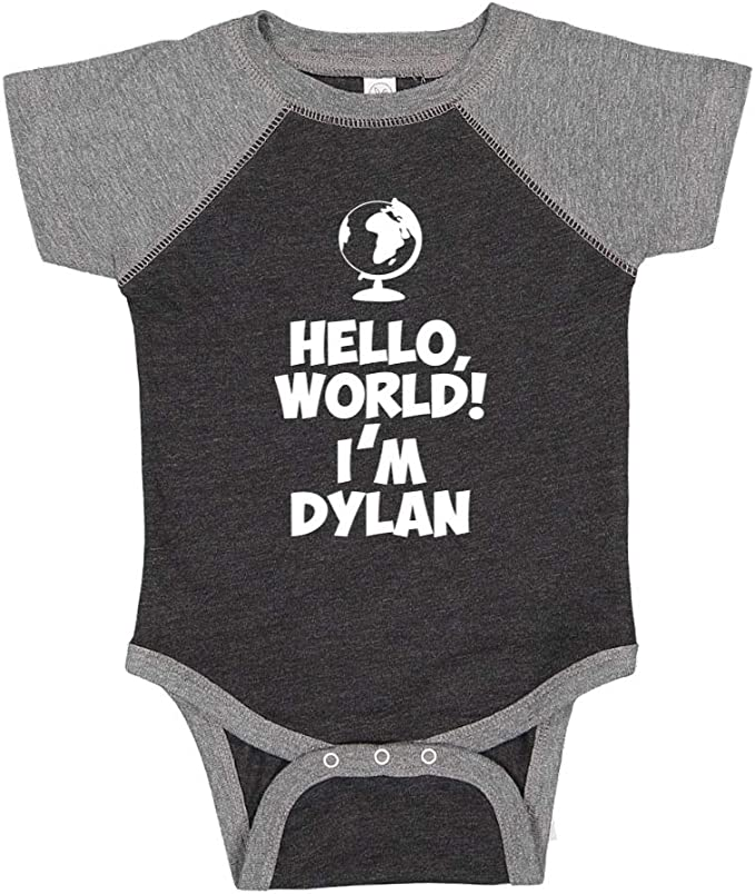 Personalized Name Baby Romper Im Dylan Mashed Clothing Hello World