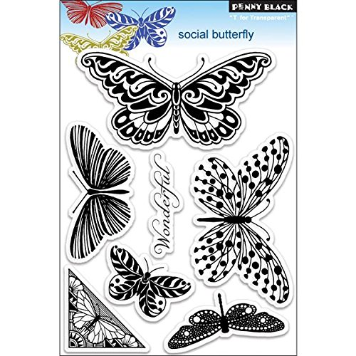 Penny Black PB30116 Social Butterfly Clear Stamp
