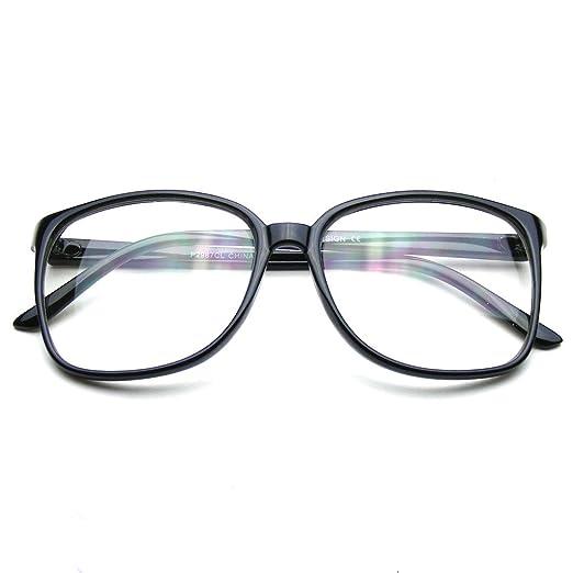 3f5b9e281d0 Amazon.com  Large Oversized Glasses Clear Lens Thin Frame Nerd ...