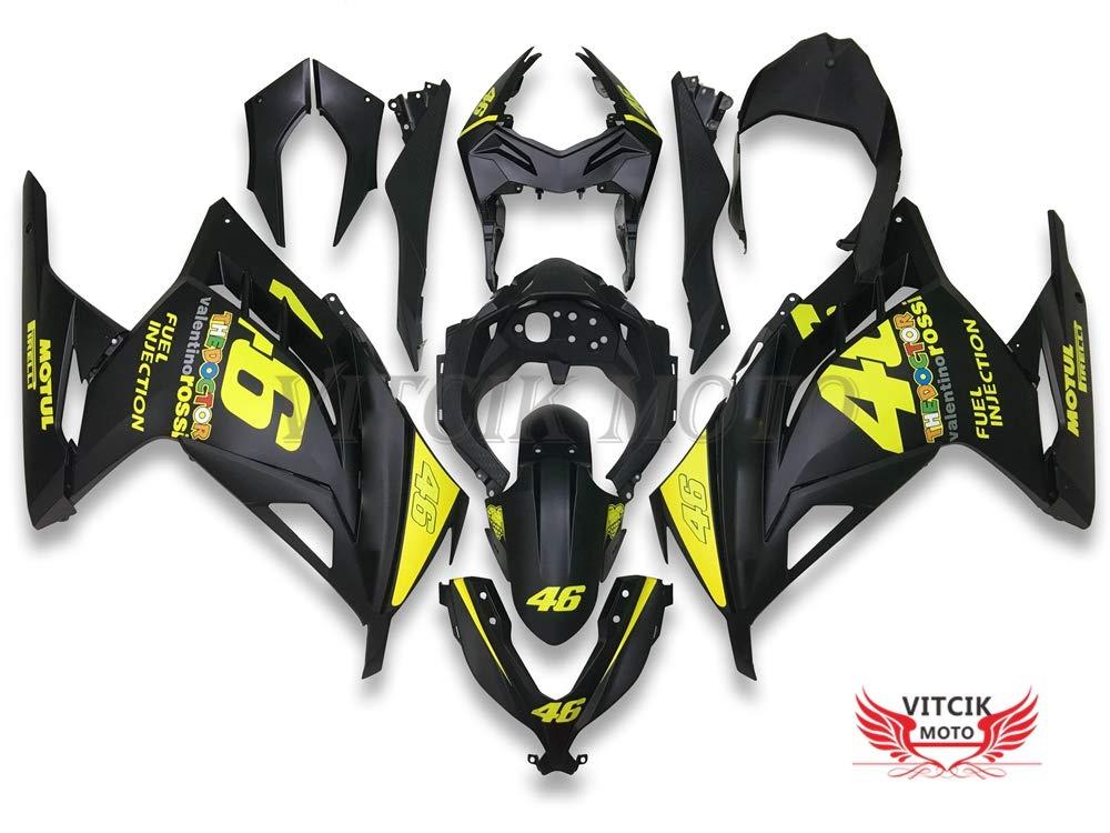 VITCIK (Fairing Kits Fit for Kawasaki EX300R Ninja 300 ZX300R 2013 2014 EX300R ZX300R 13 14 Plastic ABS Injection Mold Complete Motorcycle Body ...