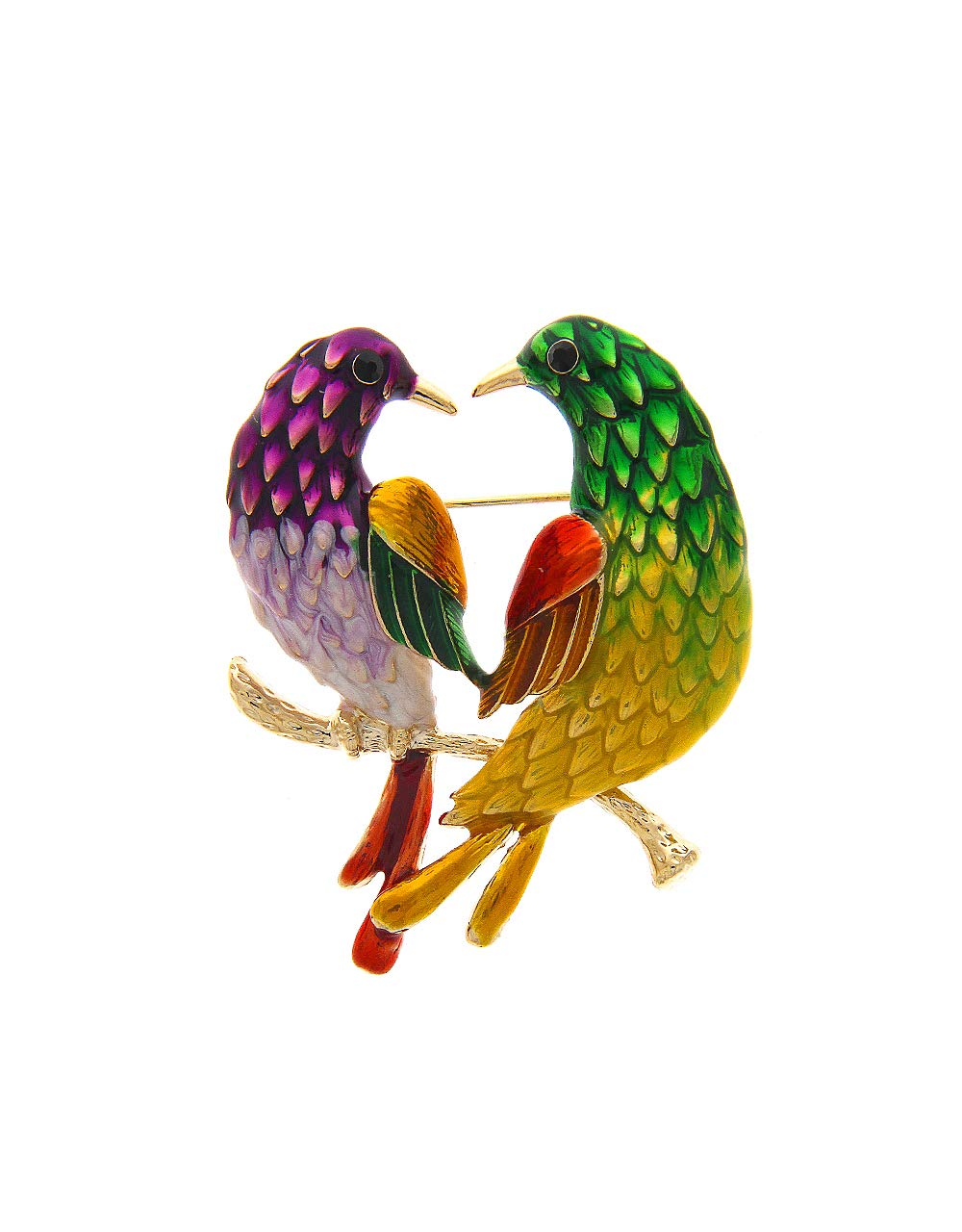 Anuradha Art Mulit Colour Inspireed by Birds Designer Saree Pin Brooch for Women/Girls