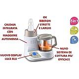 Nuvita cuocipappa 5 in 1 scaldabiberon Pappasana Vapor Combo 2 modello 2016 con nuovo sistema di cottura