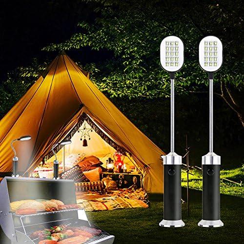 15 LED Parrilla Grill Luz Super brillante luz de trabajo con base magn/ética 360 /° Rotaci/ón para barbacoa fiesta 3 AAA pilas Incluye Coquimbo Luz de barbacoa camping 2 piezas