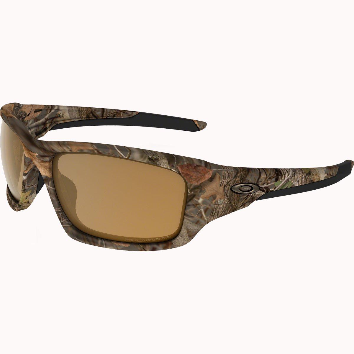 Oakley Men's Valve OO9236-25 Polarized Rectangular Sunglasses, Woodland Camouflage, 60 mm by Oakley
