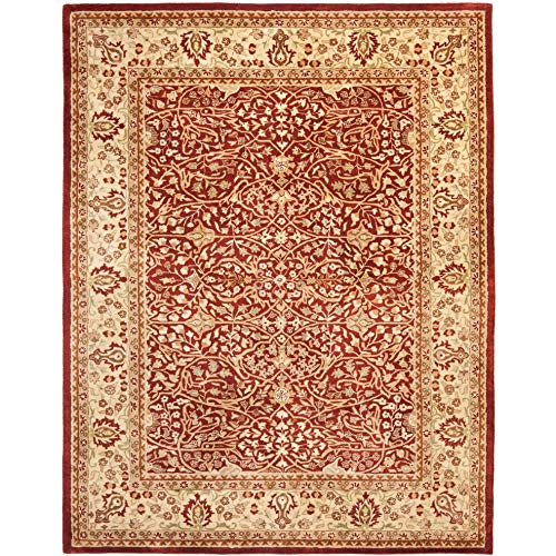 Safavieh Persian Legend Collection PL520A Handmade Traditional Rust and Beige Wool Area Rug (8' x 10')