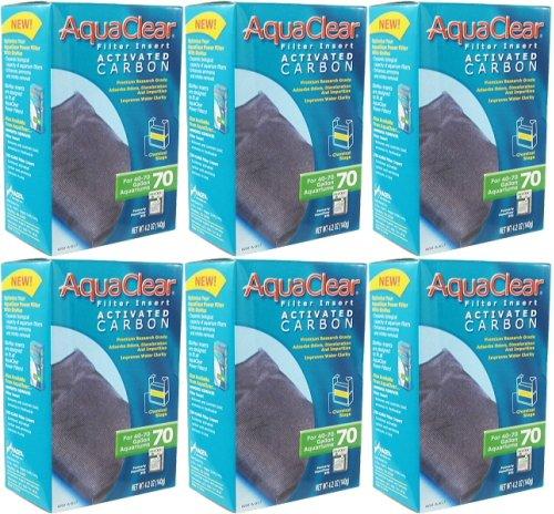 Aqua Clear 70 (300) Activated Carbon 4.2 oz x 6pk