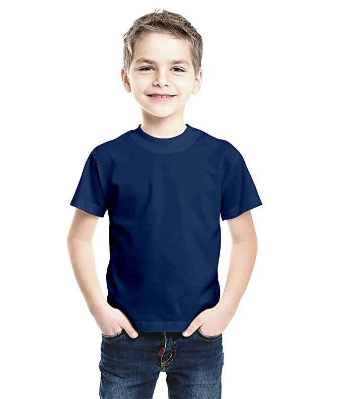 07c1975f40 Haoser Boy's Solid Navy Blue Cotton Regular Fit T-Shirt: Amazon.in: Clothing  & Accessories
