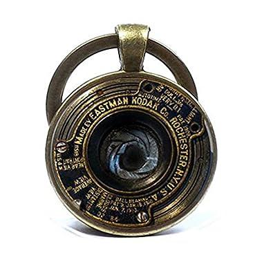 Llavero con colgante de lente de cámara vintage para regalo ...