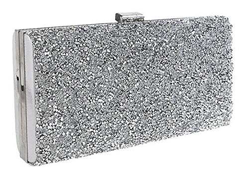 Nodykka Evening Party Rhinestone Embellished Clutches Bag Shinny Cross Body Handbags Purse by Nodykka