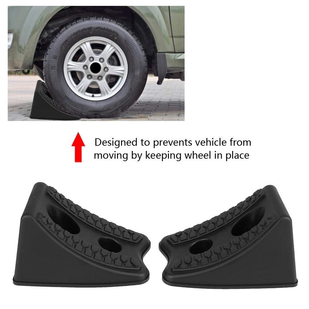 Auto Stufenkeile Auffahrkeile Anti Slip Block Gummi Autoreifen Slip Stopper Achsvermessungsblock 2 st/ücke