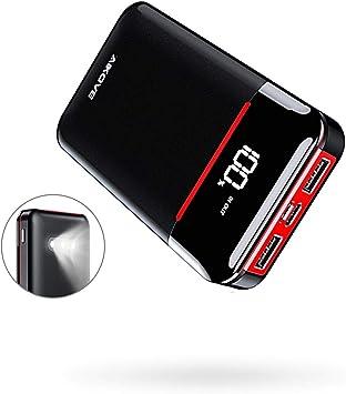 Aikove - Batería Externa de 10000 mAh, pequeña y Ligera, con 2 ...