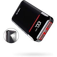 Aikove Powerbank 10000mAh Kompakte Externer Akku, Kleine und Leichter Power Bank mit 2 USB-Ausgängen und 2-Eingängen, Handy Ladegerät mit LED-Licht für Smartphones, Tablets
