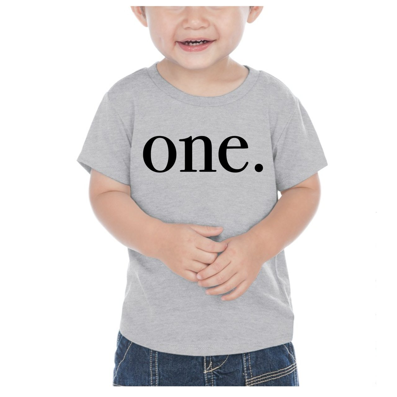Bump and Beyond Designs First Birthday Boy Outfit, Boy 1st Birthday T-Shirt (12 Months, Heather Gray)