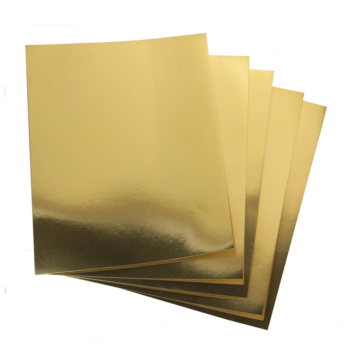 Hygloss Products Metallic Foil Board Sheets-8.5 x 11 Inches - Gold, 100 Pack by Hygloss