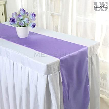 """Satin Table Runner 20 pcs Wedding 12/""""X108/"""" venue party decoration Baby Blue"""