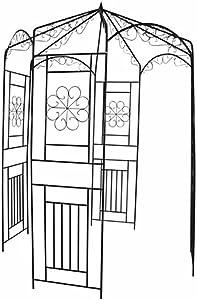 INLIFE Garden Arbor, Wrought Iron Rose Arch Pergola Trellis Arbor for Outdoor Wedding, Climbing, Planting, Lawn, Poolside, Backyard, Patio, Party 98,4