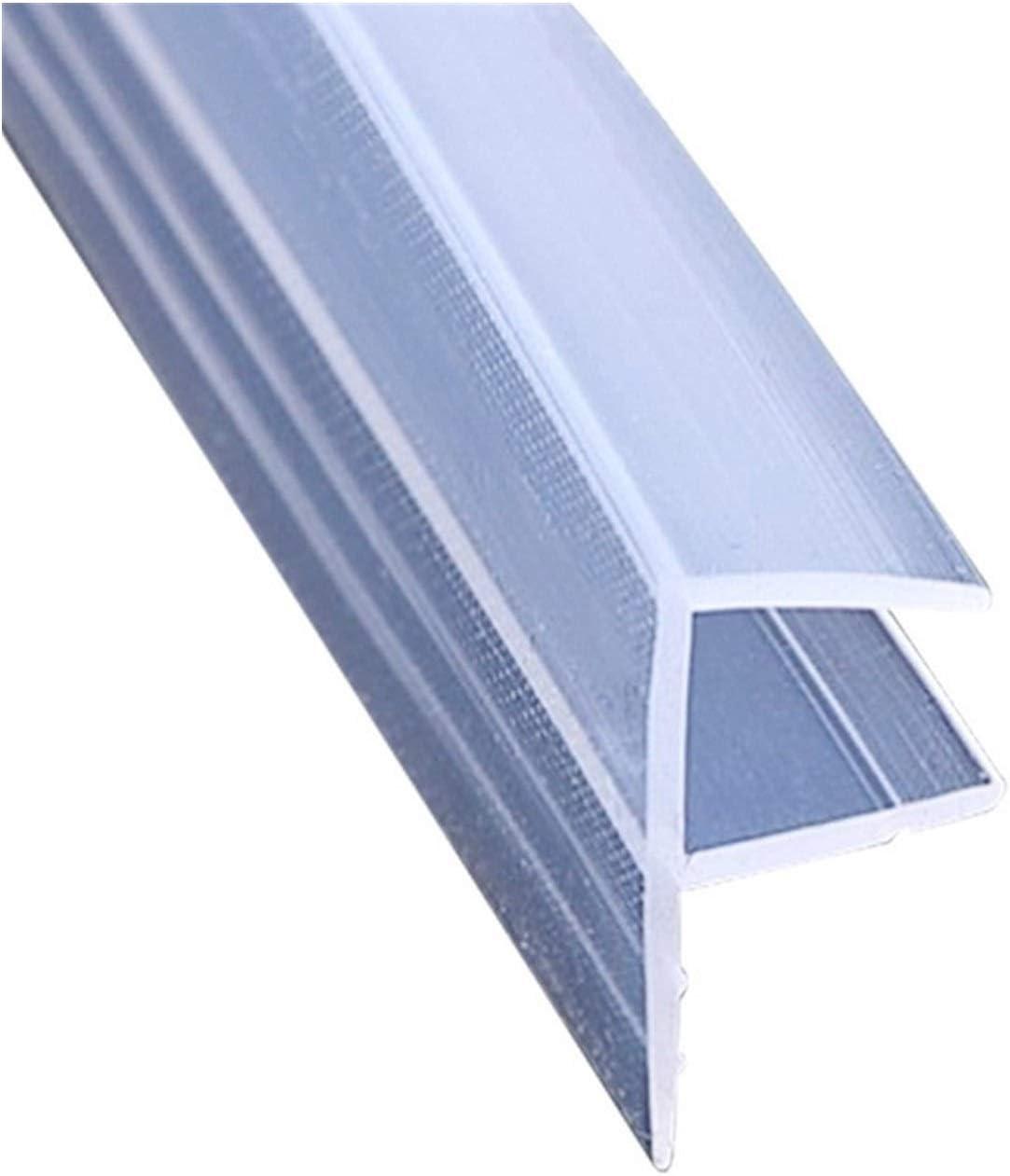 YZDKJ 1M 6-12mm Glass Door Seals Silicone Rubber Shower Room Door Window Glass Seal Strip Weatherstrip Window Door Length : 1m, Shape : U