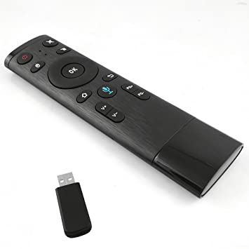Docooler 2.4 G Wireless Air Remote Ratón Mando a Distancia Fly Air Mouse Incorporado 3 de giroscopio de 3 Gsensor, con Receptor USB para Smart TV HTPC ...