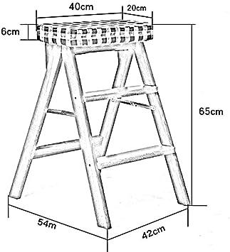 GBX Taburete de Peldaño Multifuncional para el Hogar, Taburete de Peldaño Plegable Escalera Taburete Escalera de Madera Maciza Multifunción Escaleras Antideslizantes Seguras, C, Patas de Madera Marró: Amazon.es: Bricolaje y herramientas