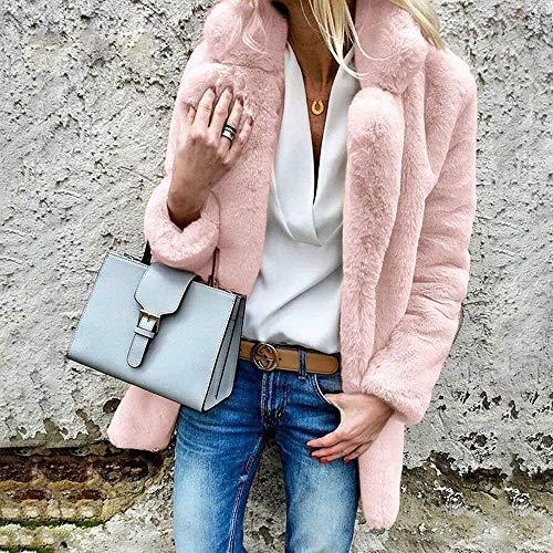 coloré Veste Taille De Manteau Au Dames Outwear Parka Grand M Décontractée Survêtement D'hiver Femmes Casual Fourrure Rose Gardez Chaud Lâche UaECwnxdEq