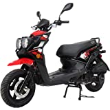 """X-PRO Moped Scooter Street Scooter Gas Moped 150cc Adult Scooter Bike with 12"""" Aluminum Wheels! (Red)"""