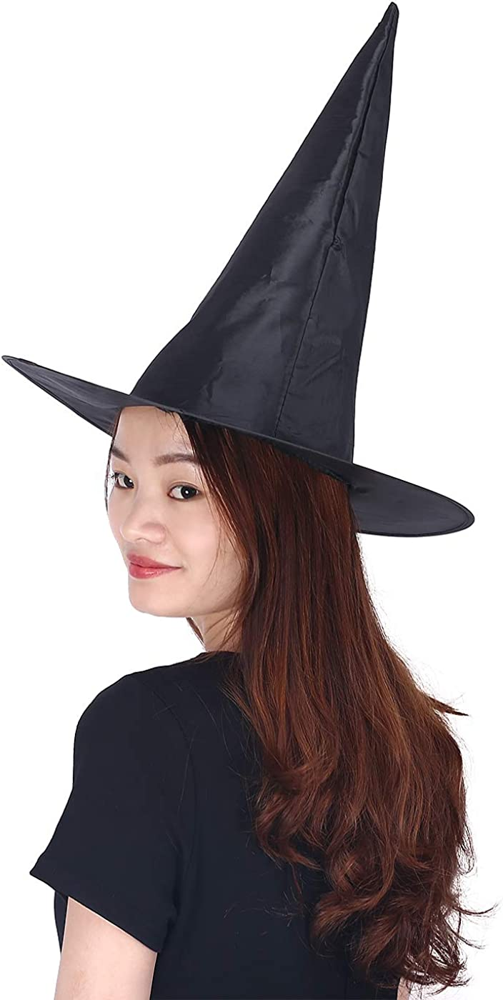 SIAEAMRG Witch Hats for Women Black//Purple//White//Red Foldable Witch Hat Adult Witch Vampire Halloween Costumes Accessories