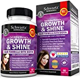 Hair Growth Vitamins with Biotin by Schwartz Bioresearch