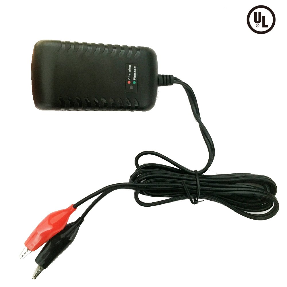 12V 1500mA Sealed Lead Acid (SLA) Smart Battery Charger With Alligator Clip, Pop Time UL Approved Qualified 12V Battery Charger Wall Mounted