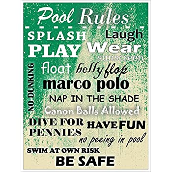 Pool Sign Pool Rules Heavy Duty Durable Swimming Pool Signs Pool Decor Signs
