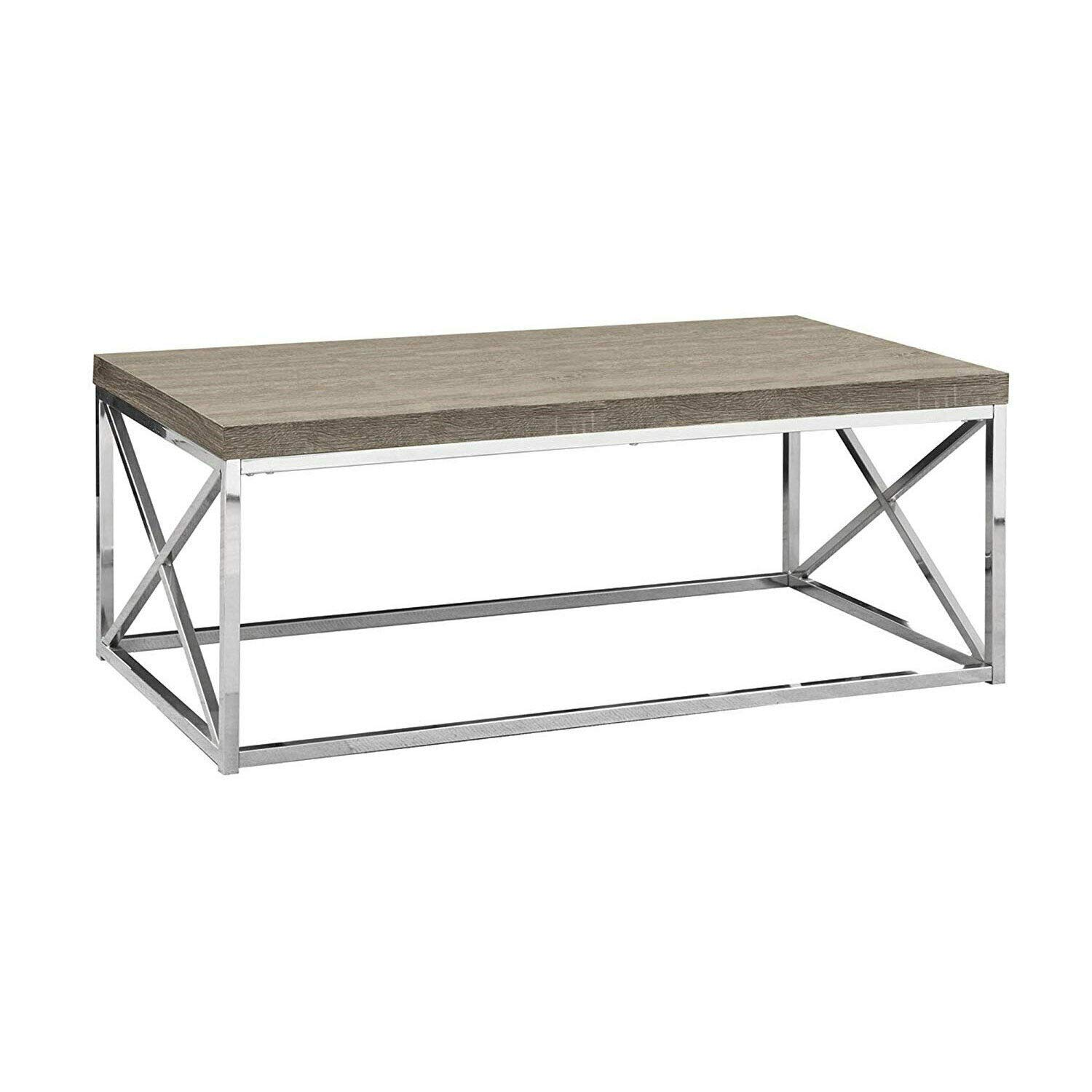 Criss Cross Coffee Table.Amazon Com Dark Taupe 44 Rectangular Coffee Table Contemporary