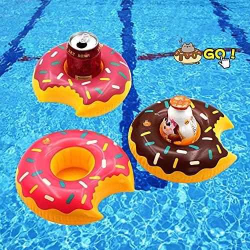 18個ドリンクフロート 8種類デザイン コースター カップ浮き輪 プール・ナイトプール・ビーチ・温泉・パーティー・海 サマーグッズ お風呂 おもちゃ