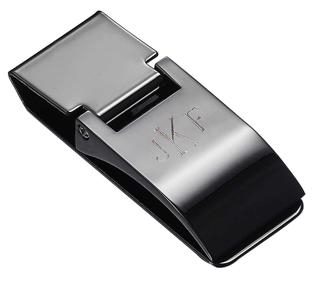 Personalized Visol Calvin Gunmetal Hinged Money Clip with Free Engraving EN-VMC610GM-RM