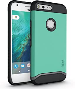 TUDIA Google Pixel XL Case, Slim-Fit Heavy Duty [Merge] Extreme Protection/Rugged but Slim Dual Layer Case for Google Pixel XL (Mint)