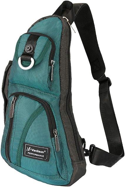 Amazon.com: Bolso bandolera, bolsa de pecho, mochila de ...