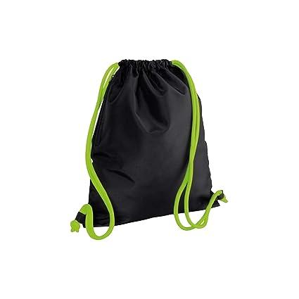 Amazon.com: Bagbase - Bolsa con cordón para gimnasio, Negro ...
