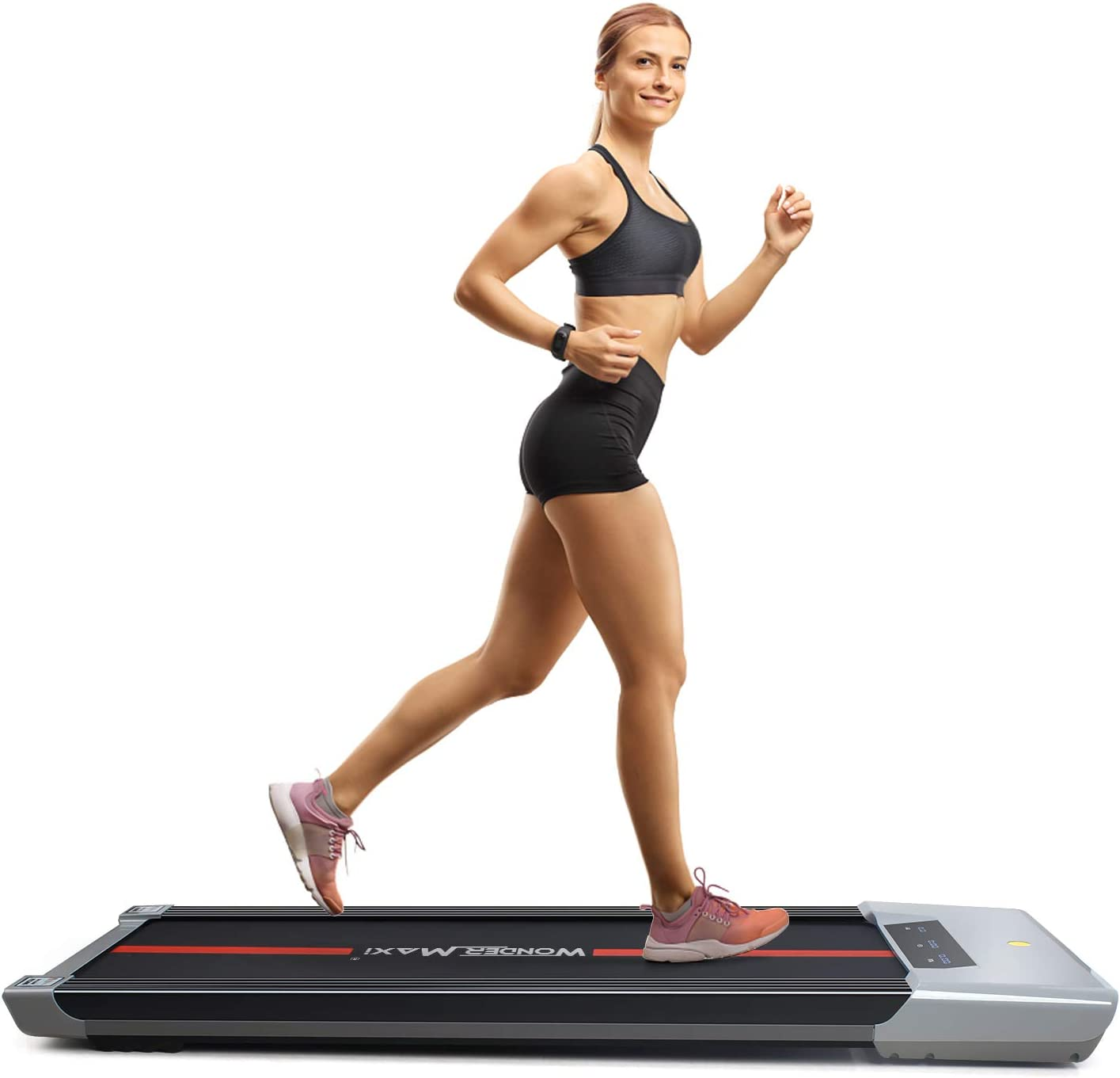 Wonder Maxi Under Desk Treadmill Workout Running Machine with LCD and Remote Control Portable Compact Treadmill for Jogging and Walking Exercise Home Gym